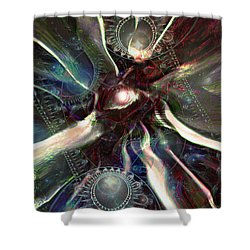 Eye Of The Universe Shower Curtain by Linda Sannuti