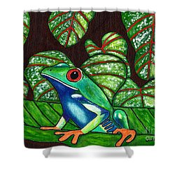 Eye On You Shower Curtain by Laura Forde