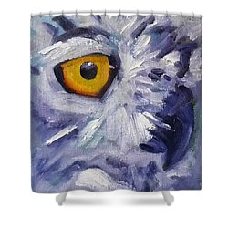 Eye On You Shower Curtain by Nancy Merkle