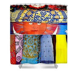 Shower Curtain featuring the photograph New Orleans Eye See Fabric In Lifestyles by Michael Hoard