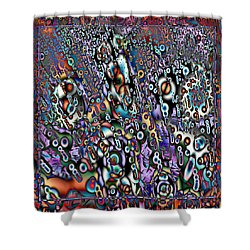 Eyeballs And Eight Balls Shower Curtain