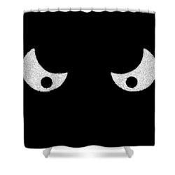 Eyes - In The Dark Shower Curtain by Mike Savad