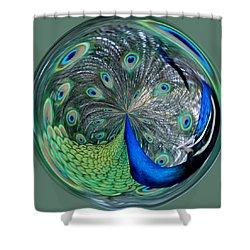 Eyes Of A Peacock Shower Curtain by Cynthia Guinn