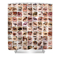Eyes Of Hollywood - Old Era Shower Curtain