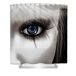 Eyes Of The Fool Shower Curtain by Bob Orsillo