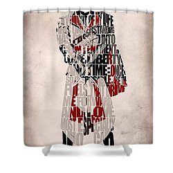 Ezio - Assassin's Creed Brotherhood Shower Curtain by Ayse Deniz