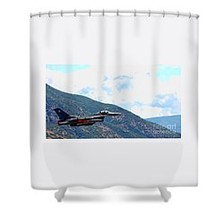 F-16 Flyby Shower Curtain