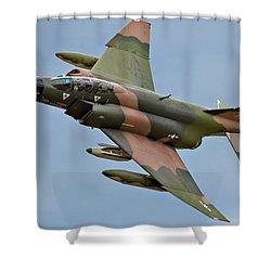 F-4 Phantom II Shower Curtain by Bill Lindsay
