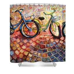 Fa Caldo Troppo Guidare Shower Curtain by Jen Norton