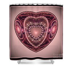 Faberge Heart Shower Curtain