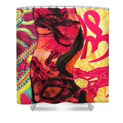 Fabric Collision Shower Curtain