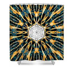 Shower Curtain featuring the drawing Fabric Of The Universe by Derek Gedney