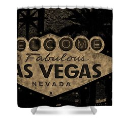 Fabulost Vegas Spelling Correct Shower Curtain by John Malone