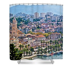 Fabulous Split Waterfront Aerial Panorama Shower Curtain