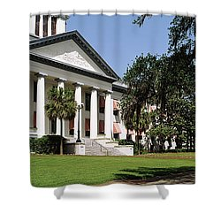 Facade Of The Old Florida State Shower Curtain by Panoramic Images