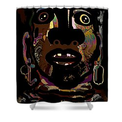 Face 15 Shower Curtain by Natalie Holland