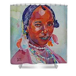 Face From Sudan  2 Shower Curtain by Mohamed Fadul