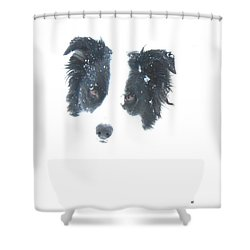 Shower Curtain featuring the digital art Face In The Snow by Aliceann Carlton
