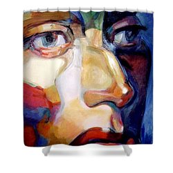 Face Of A Woman Shower Curtain by Stan Esson
