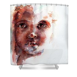 Face Of Africa Shower Curtain by Stephie Butler