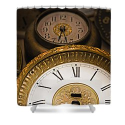 Face Of Time Shower Curtain by Tom Gari Gallery-Three-Photography