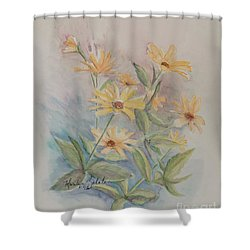Face The Day Shower Curtain