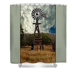 Face The Wind - Windmill Photography Art Shower Curtain