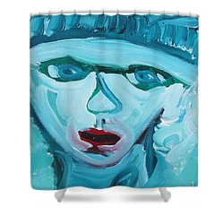 Face Two Shower Curtain