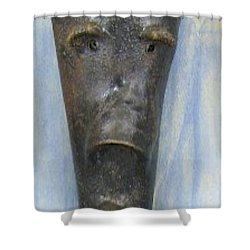 Faces #3 Shower Curtain by Mario Perron
