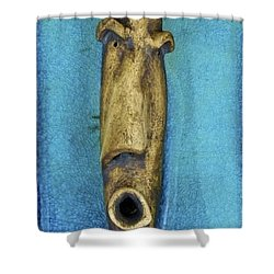 Faces #5 Shower Curtain by Mario Perron