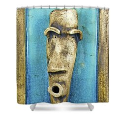 Faces #7 Shower Curtain by Mario Perron