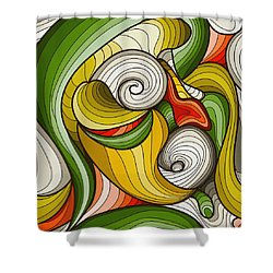 Monkey Pot Shower Curtain by Don Kuing