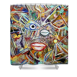 Faces In Life - Just Smile Shower Curtain