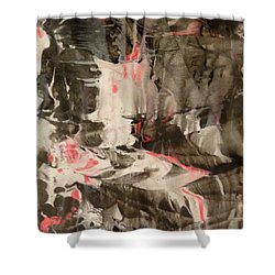 Shower Curtain featuring the painting Facial Expressions by Mike Breau
