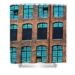 Factory Windows Shower Curtain