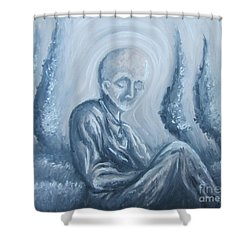Shower Curtain featuring the painting Fade Away by Michael  TMAD Finney