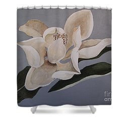 Shower Curtain featuring the painting Faded Glory by Nancy Kane Chapman