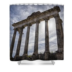 Faded Glory Of Rome Shower Curtain by Joan Carroll