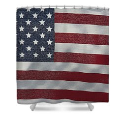 Faded Old Glory Shower Curtain