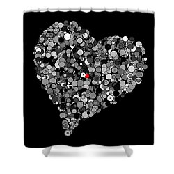 Fading Love Shower Curtain by Marianna Mills