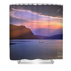 Fading Of The Light Shower Curtain by Edmund Nagele