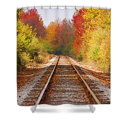 Fading Tracks Shower Curtain by Mary Carol Story