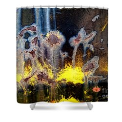 Fae And Fireworks Abstract Shower Curtain by Lee Craig