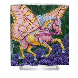 Faery Horse Hope Shower Curtain by Beth Clark-McDonal