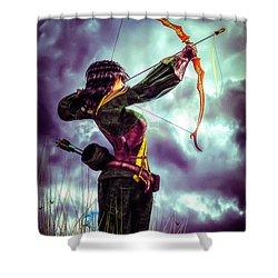 Fair Warning Shower Curtain by Bob Orsillo