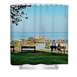 Fairhope Alabama Pier Shower Curtain