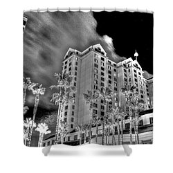 Fairmont From Plaza De Cesar Chavez Shower Curtain