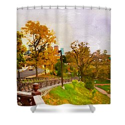 Fairmount View Shower Curtain by Alice Gipson