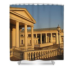 Shower Curtain featuring the photograph Fairmount Water Works by Christopher Woods