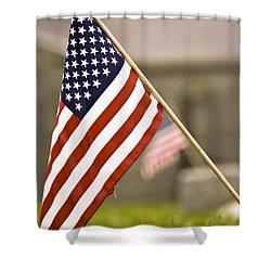 Fairview America Shower Curtain by Trish Tritz